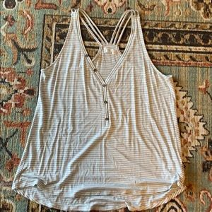 Maurices striped racer back tank